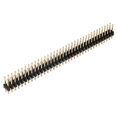 36+36 WAY DOUBLE ROW PIN HEADER 2.54MM PITCH 5A RATING GOLD PLATED