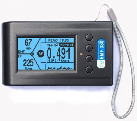 EMF-380 V2 3IN1 RF DETECTOR EMF METER, 8GHZ & 2.5GHZ RF SPECTRUM ANALYZER, GQ EMF-380V2 UK STOCK!!