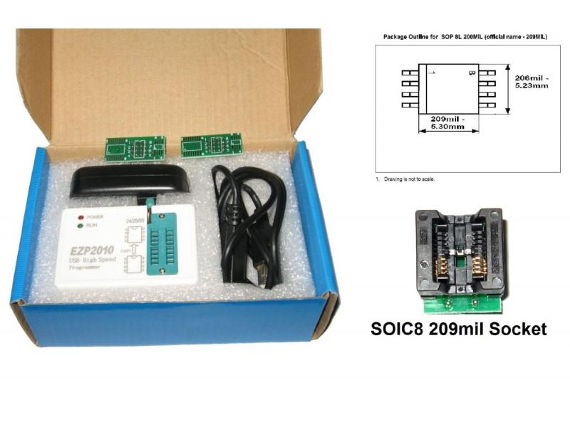EZP2010 USB eeprom SPI Programmer 24Cxx 25Cxx 93Cxx 25Lxx 32 /& 64bit