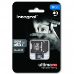 INTEGRAL ULTIMA PRO MICRO SDHC 16GB CLASS 10 WITH SD ADAPTER