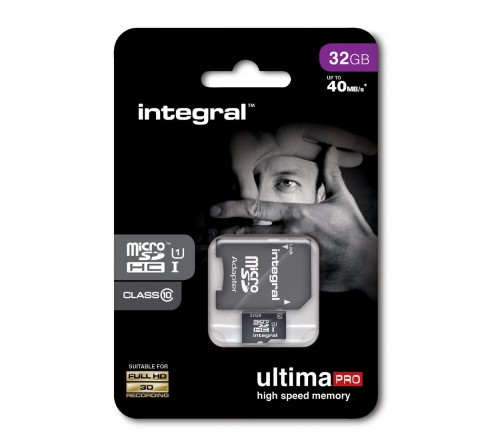 INTEGRAL ULTIMA PRO MICRO SDHC 32GB CLASS 10 WITH SD ADAPTER