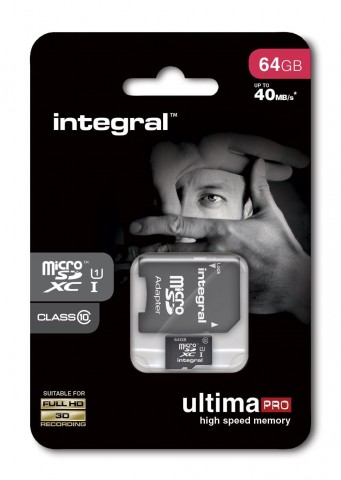 INTEGRAL ULTIMA PRO MICRO SDHC 64GB CLASS 10 WITH SD ADAPTER