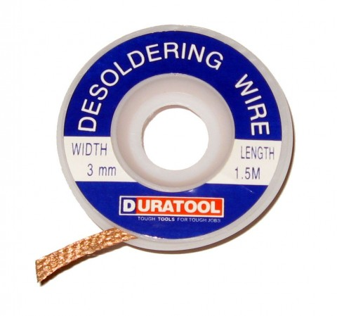 3.0MM Desolder Braid, Desolder Wire, Desolder Wick 3mm ZD-180 / 87-1805