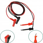 LARGE MULTIMETER PROBE BANANA PLUG TO TEST HOOK CLIP CABLE
