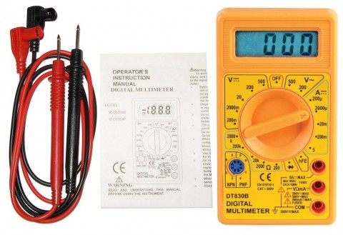 500V AC/DC Manual Ranging Digital Test Multimeter Includi...
