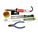 SOLDERING IRON KIT WITH STAND AND ACCESSORIES SOLDER ZD 9...