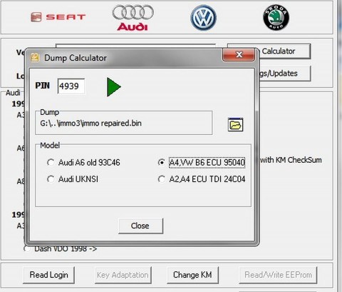 VW Audi Immobiliser off Bypass Immo off Defeat, ECU Cluster
