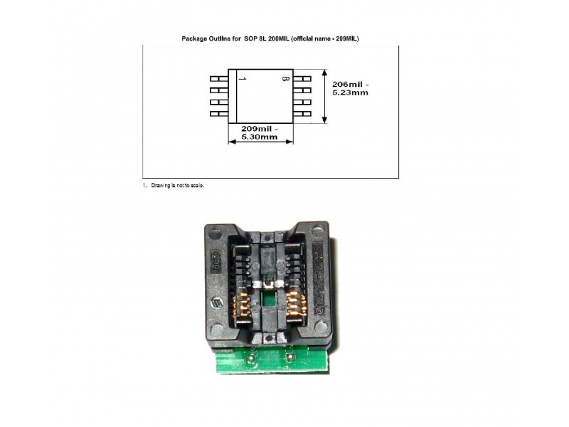 soic8 to dip8 adapters 200
