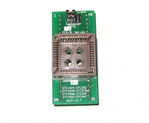 PLCC44 to DIP40 ADAPTER | SUPPORTS MOST PROGRAMMERS | ADP-017