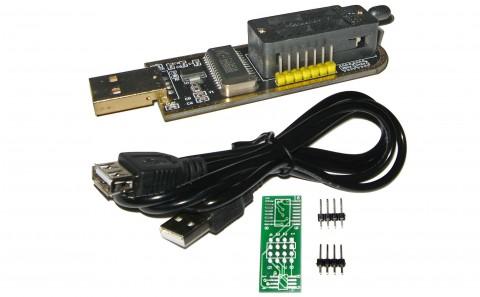 CH341A SPI EEPROM PROGRAMMER 24xx 25xx 25Lxx | SOIC8 | 1.8v | SOFTWARE v1.29
