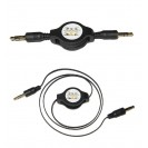 1x GOLD 3.5MM RETRACTABLE AUDIO CABLE LEAD | AUX JACK FOR...