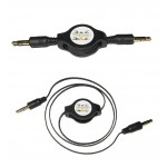 1x GOLD 3.5MM RETRACTABLE AUDIO CABLE LEAD | AUX JACK FOR iPHONE iPOD MP3