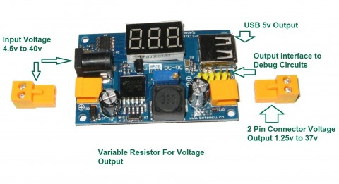 LM2596 DC-DC BUCK CONVERTER  STEP-DOWN POWER MODULE  FOR RASPBERRY Pi  PSU
