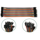 MALE - FEMALE RAINBOW RIBBON CABLE DUPONT JUMPER WIRES AR...