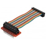 RASPBERRY Pi 26 WAY IDC GPIO BREADBOARD BREAKOUT RIBBON CABLE - 100MM