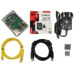 Raspberry Pi 3 B+ Kit, 16GB, Clear Case, 3.0A Power Supply, Plus Accessories