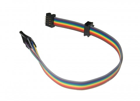 8 WAY MULTI CONNECTION RAINBOW RIBBON ISP LEAD CABLE | IDC DIL 8WAY | IDC 2x4