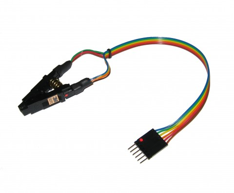 PICKIT 3M 8 WAY SOIC TEST CLIP ISP CABLE | 25xx / 95xx | ...