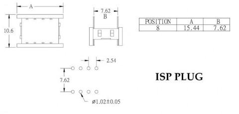 ISP CABLE - SPI MX25L | EEPROM 93xx 24xx 25xx | PROGRAMMING