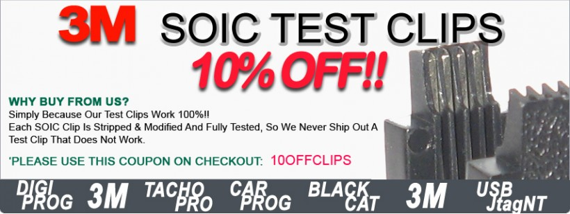 Test Clips 10% OFF
